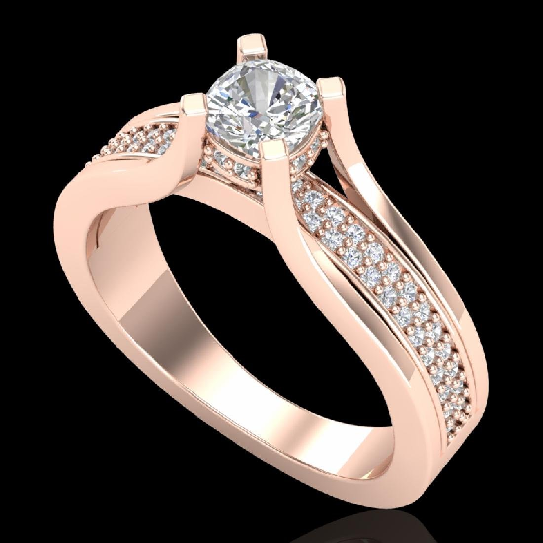 1.01 CTW Cushion VS/SI Diamond Solitaire Micro Pave