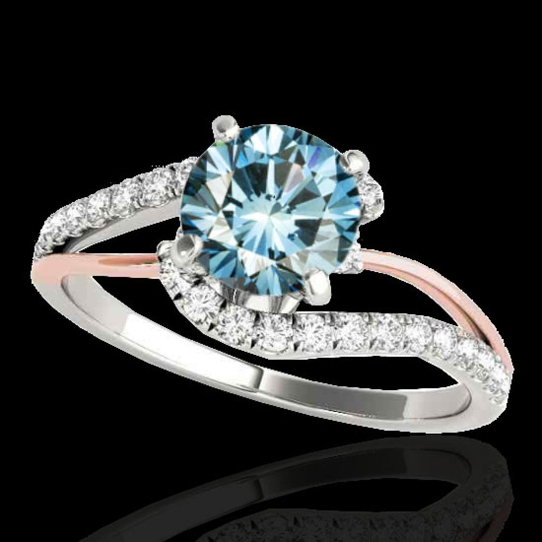 1.35 CTW SI Certified Fancy Blue Diamond Bypass