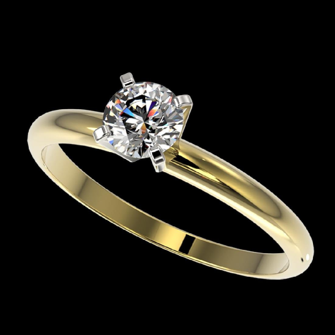 0.54 CTW Certified H-SI/I Quality Diamond Solitaire