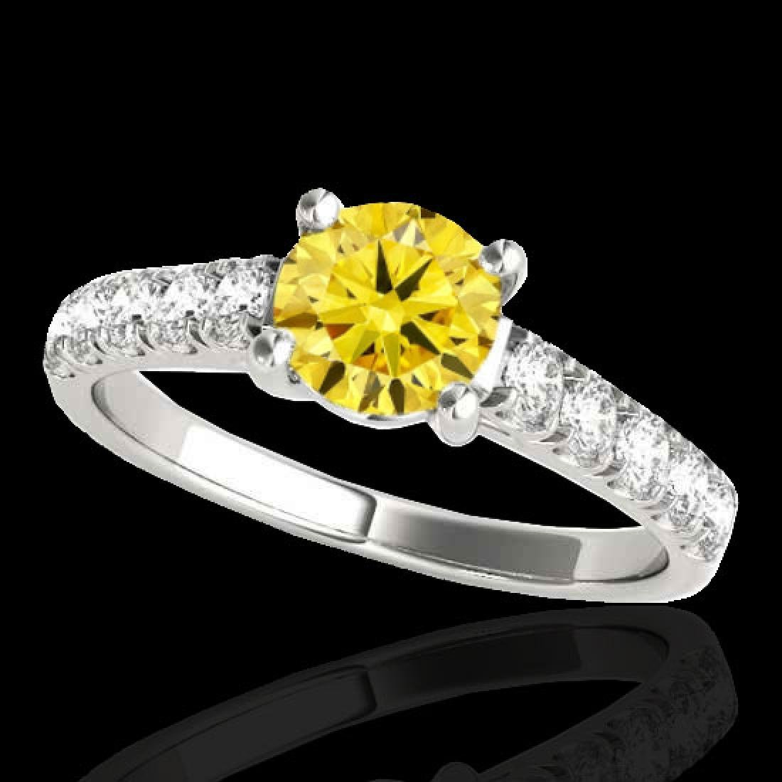2.1 CTW Certified SI/I Fancy Intense Yellow Diamond