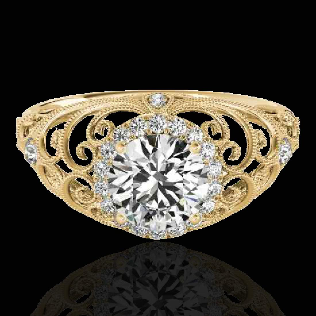 1.22 CTW H-SI/I Certified Diamond Solitaire Halo Ring