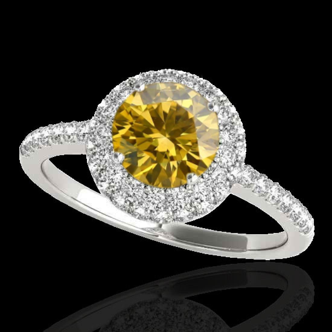 2.15 CTW Certified SI/I Fancy Intense Yellow Diamond