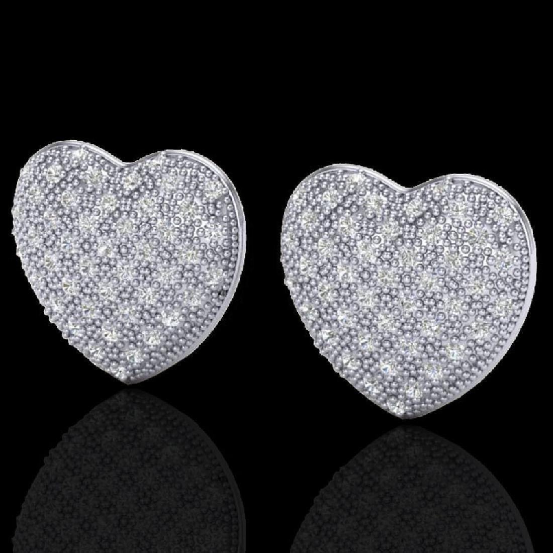 1.50 Designer CTW Micro Pave VS/SI Diamond Heart
