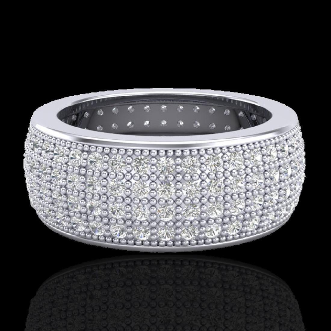 2.50 CTW Micro Pave VS/SI Diamond Eternity Ring 18K