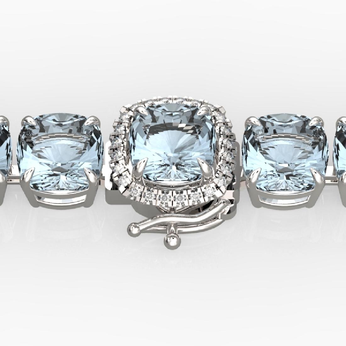 35 CTW Aquamarine & Micro VS/SI Diamond Halo Designer