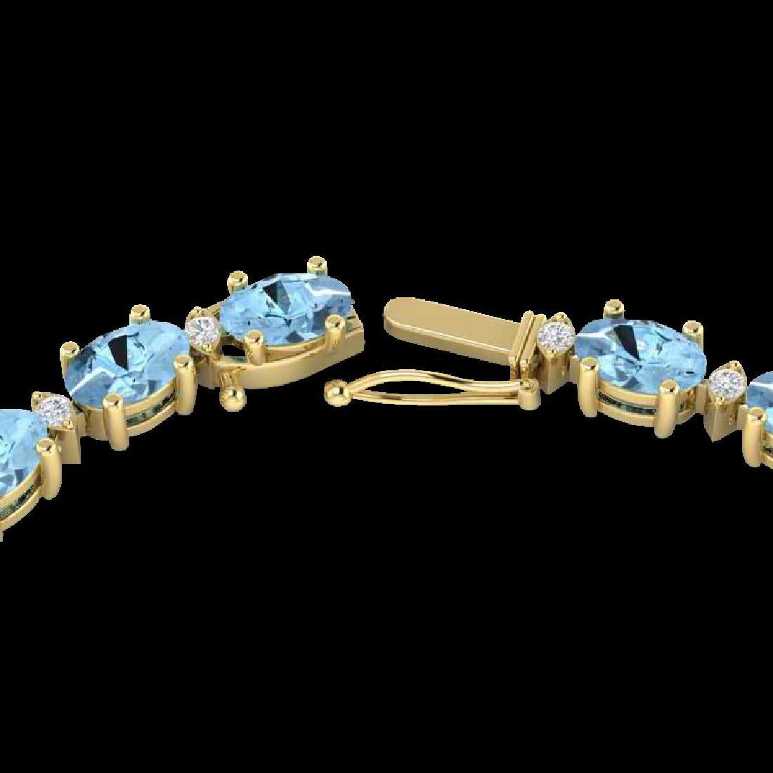 49.85 CTW Aquamarine & VS/SI Certified Diamond Eternity