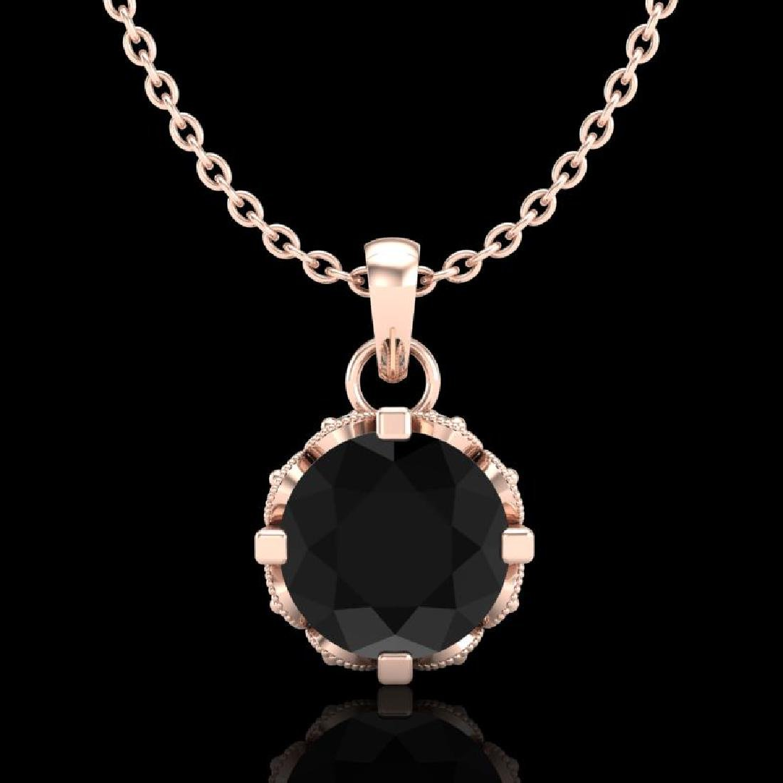 0.85 CTW Fancy Black Diamond Solitaire Art Deco Stud
