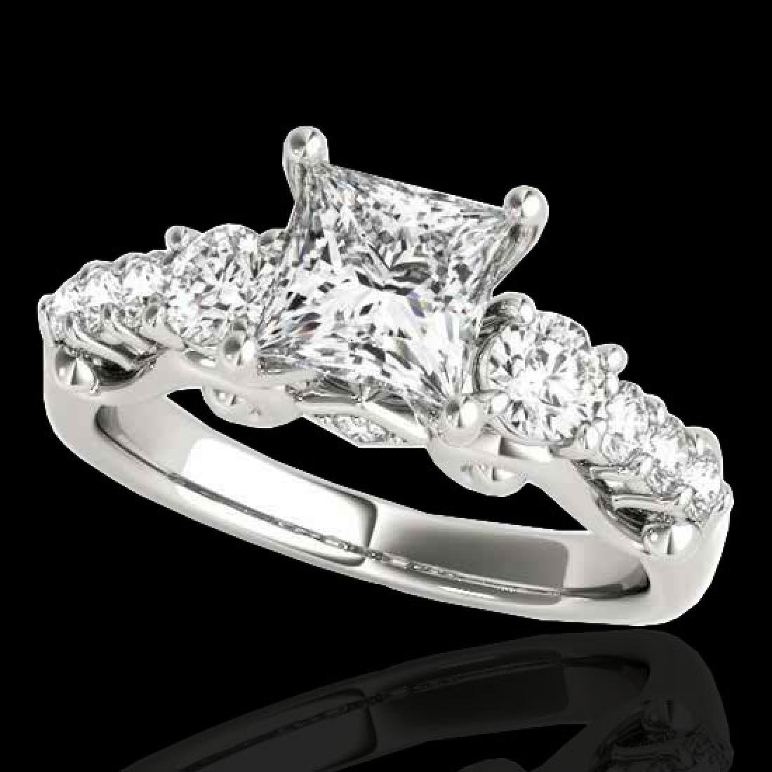 1.75 CTW VS/SI Certified Princess Diamond 3 Stone Ring