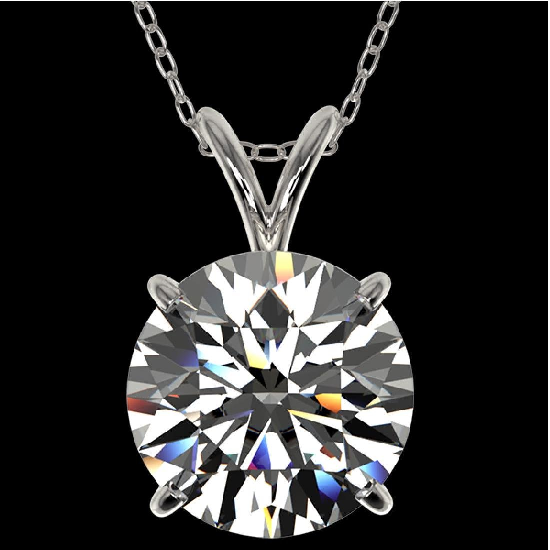 2.53 CTW Certified H-SI/I Quality Diamond Solitaire