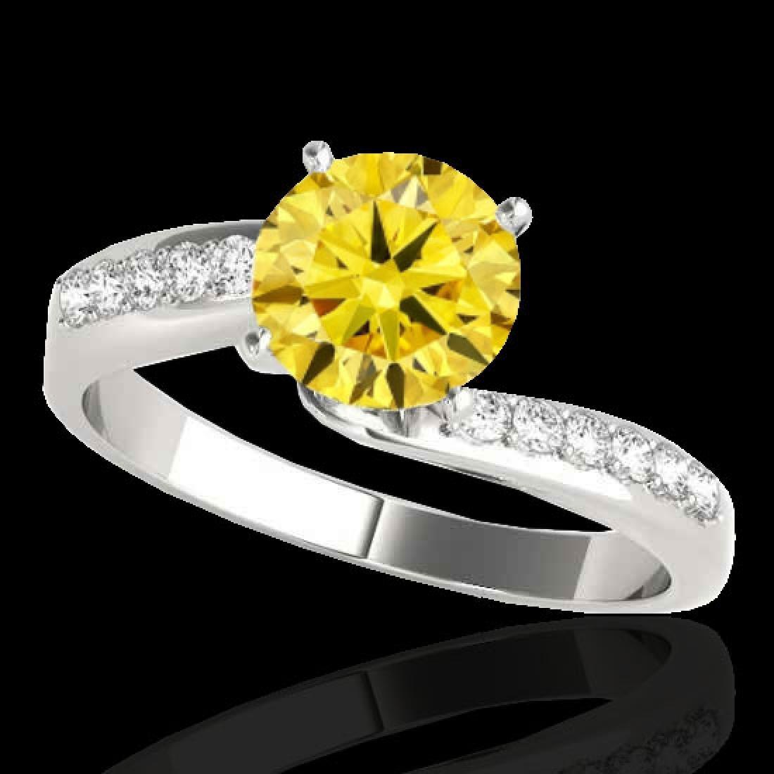 1.15 CTW Certified Si Intense Yellow Diamond Bypass