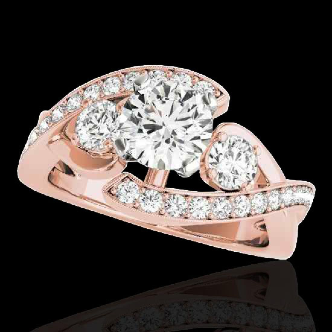 1.76 CTW H-SI/I Certified Diamond Bypass Solitaire Ring