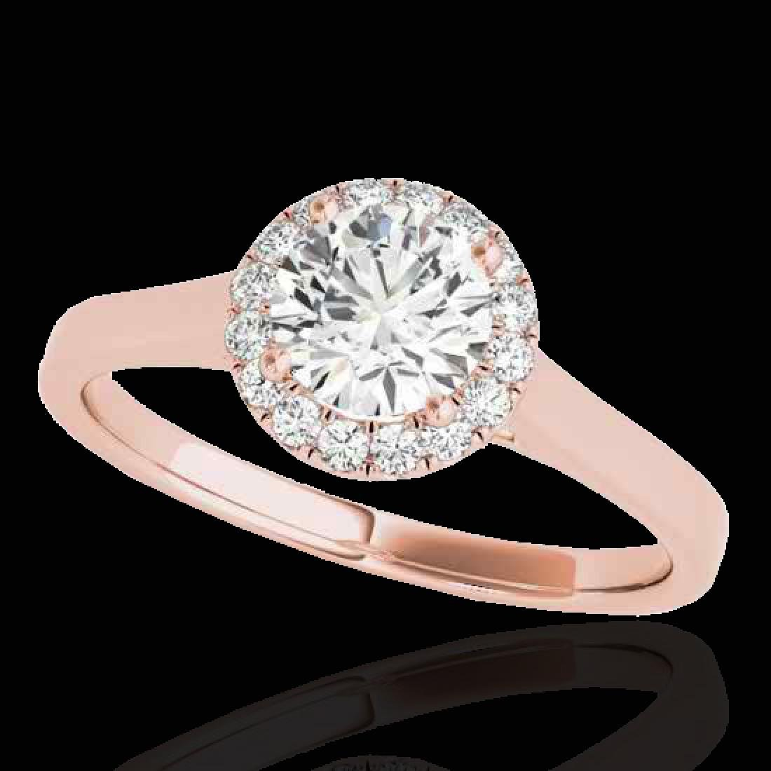 1.11 CTW H-SI/I Certified Diamond Solitaire Halo Ring