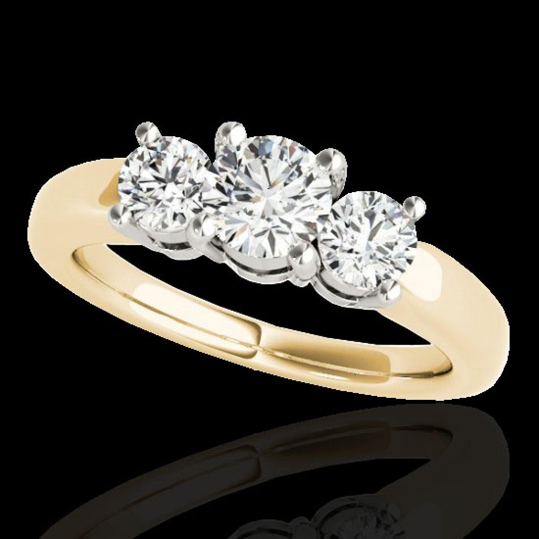 2 CTW H-SI/I Certified Diamond 3 Stone Solitaire Set