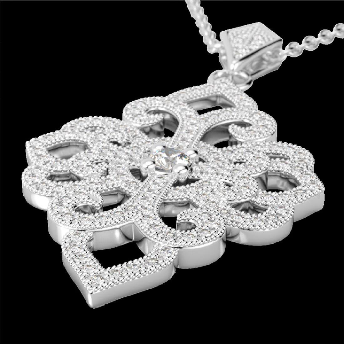 1.40 CTW Micro Pave VS/SI Diamond Designer Necklace 14K