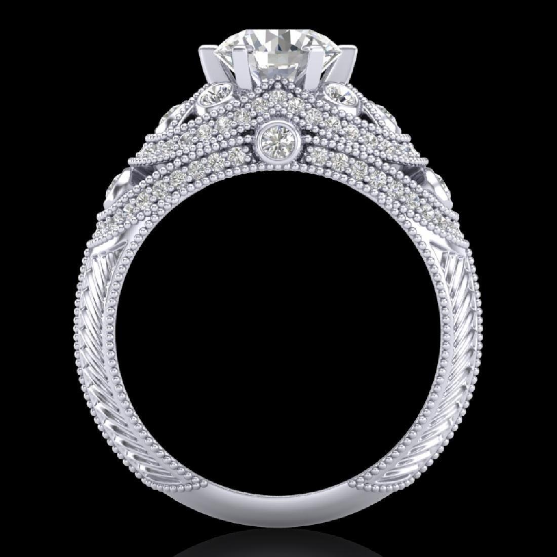2 CTW VS/SI Diamond Solitaire Art Deco Ring 18K White