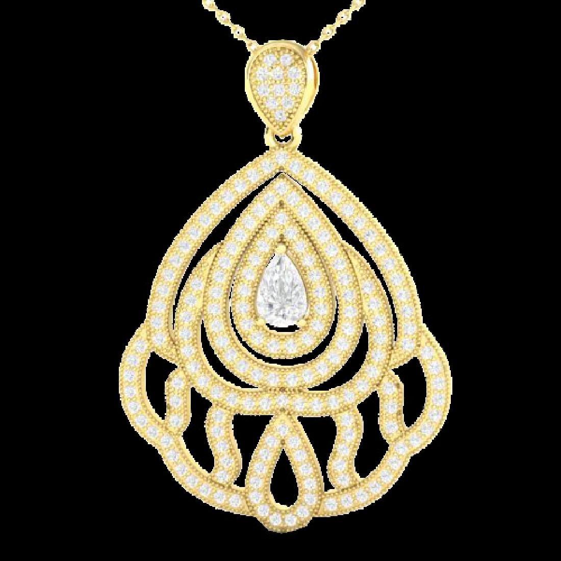 2 CTW Micro Pave VS/SI Diamond Designer Necklace 18K