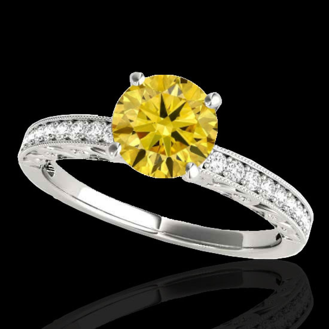 1.43 CTW Certified Si Intense Yellow Diamond Solitaire