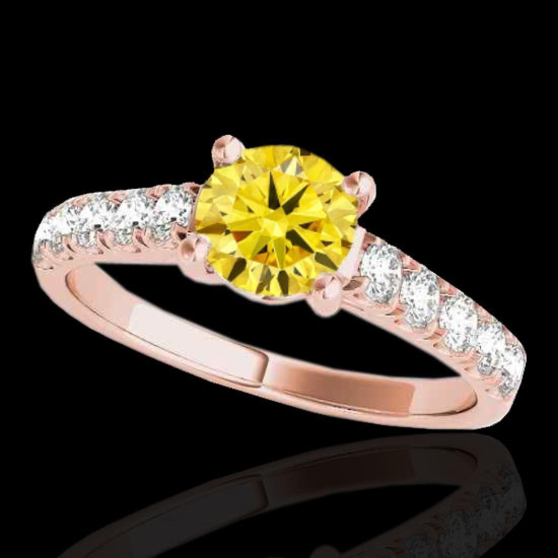 1.55 CTW Certified SI/I Fancy Intense Yellow Diamond