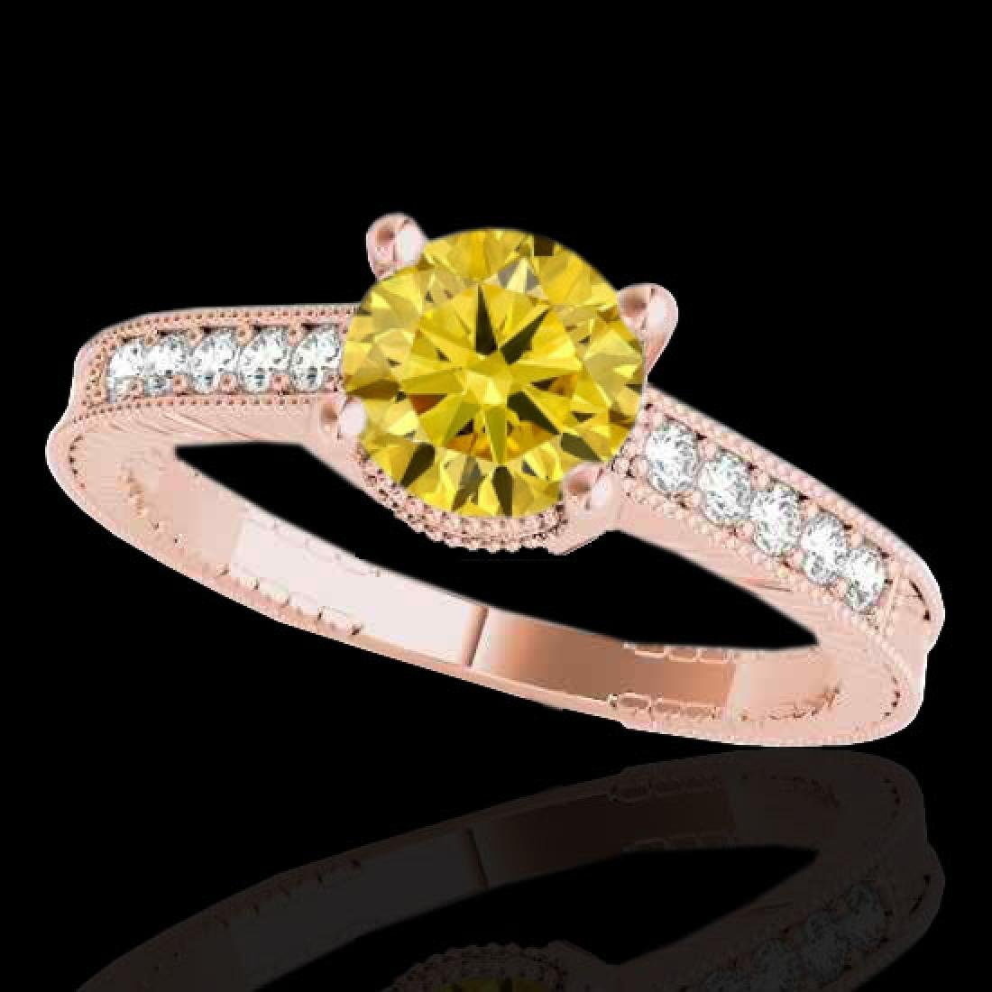 1.2 CTW Certified Si Intense Yellow Diamond Solitaire