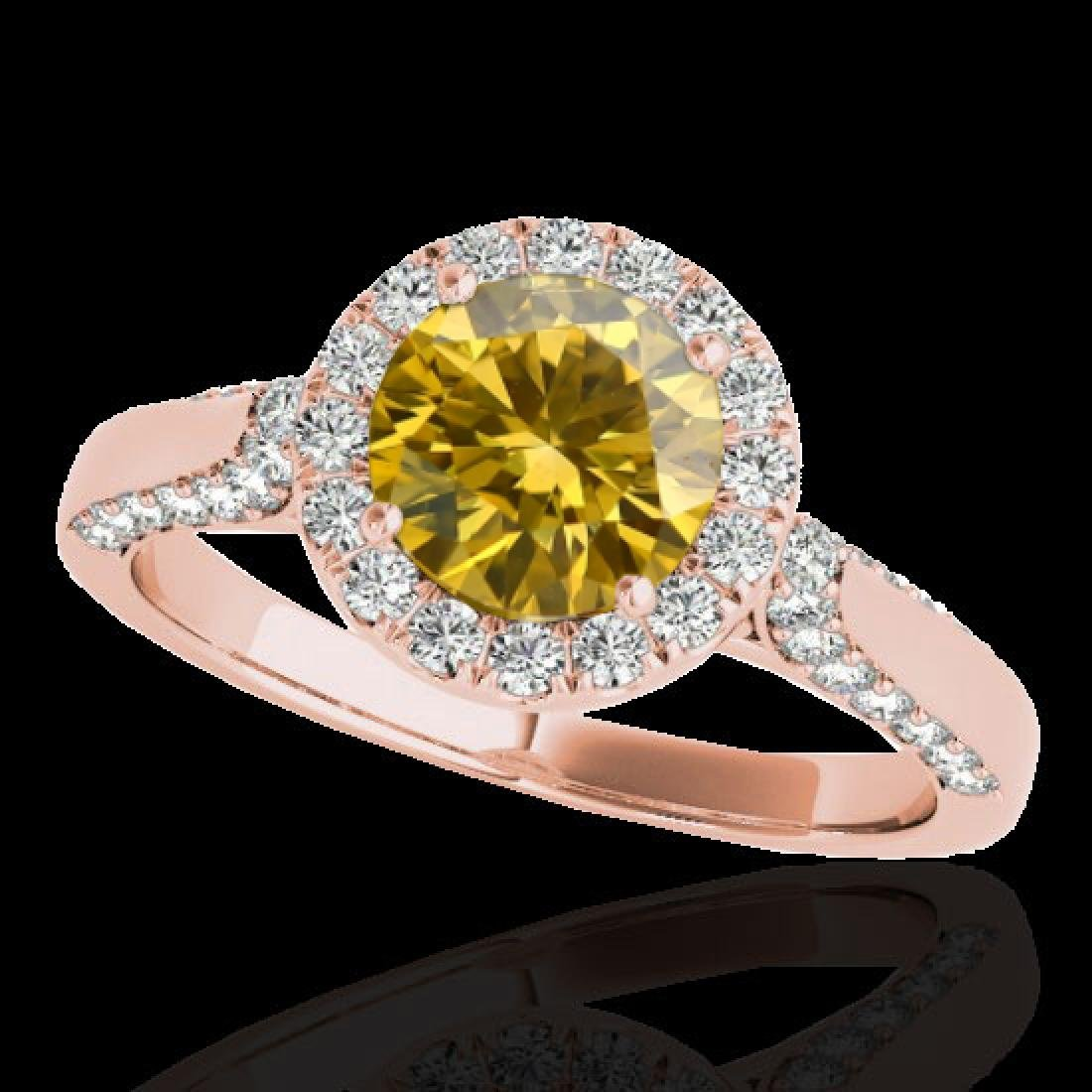 2.15 CTW Certified SI/I Fancy Intense Yellow Diamond