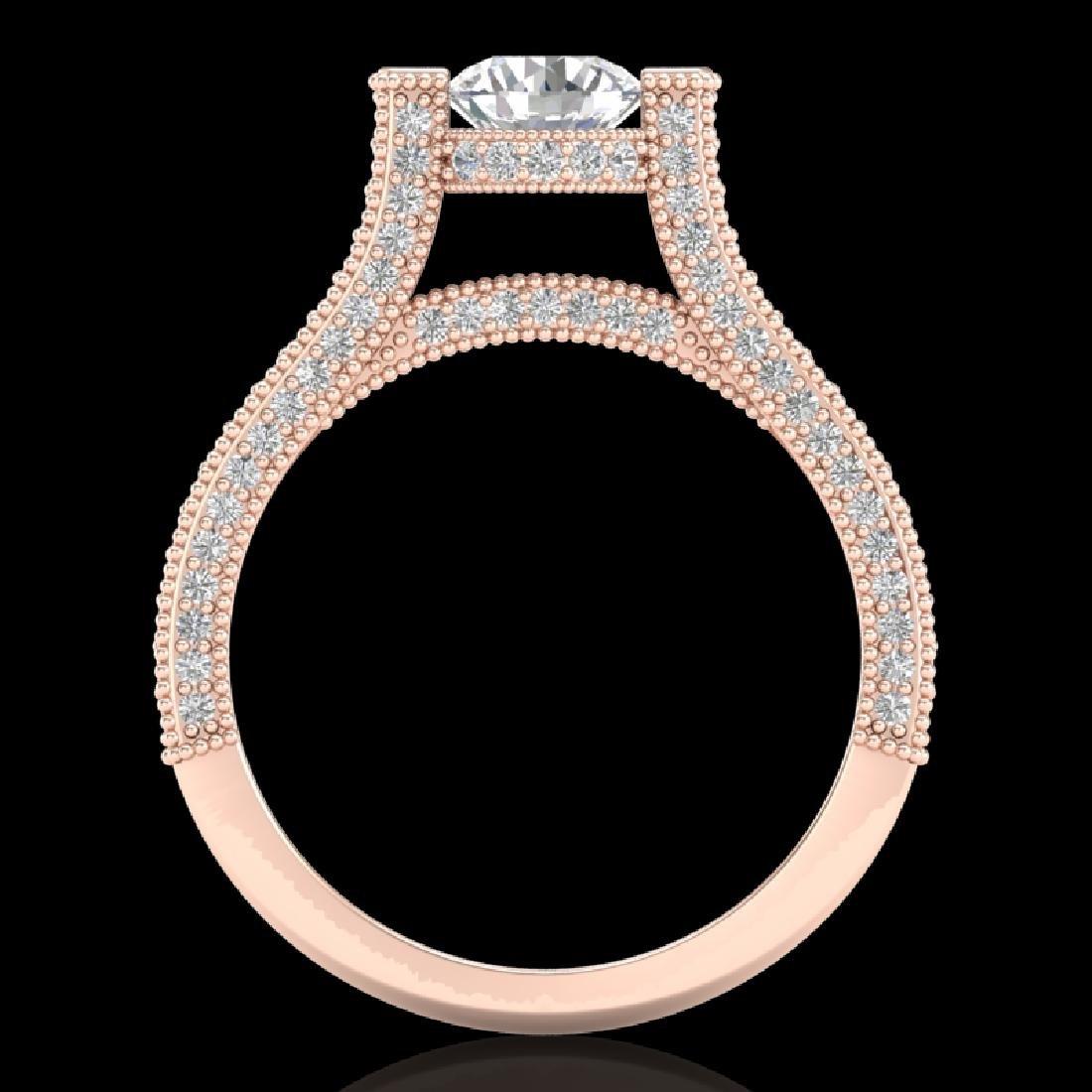 2 CTW VS/SI Diamond Micro Pave Ring 18K Rose Gold