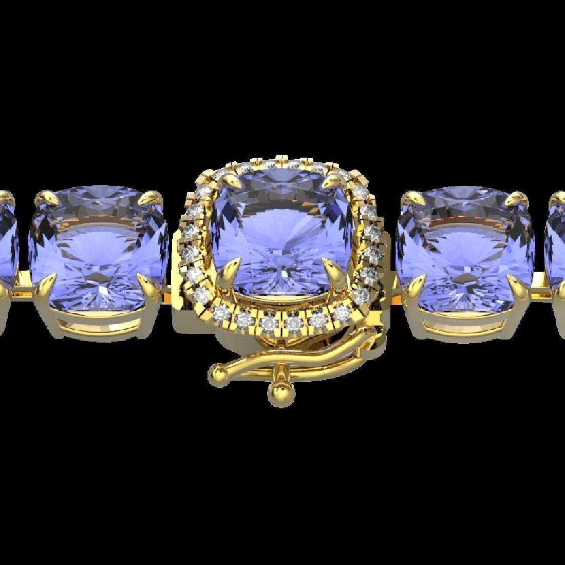 40 CTW Tanzanite & Micro VS/SI Diamond Halo Designer