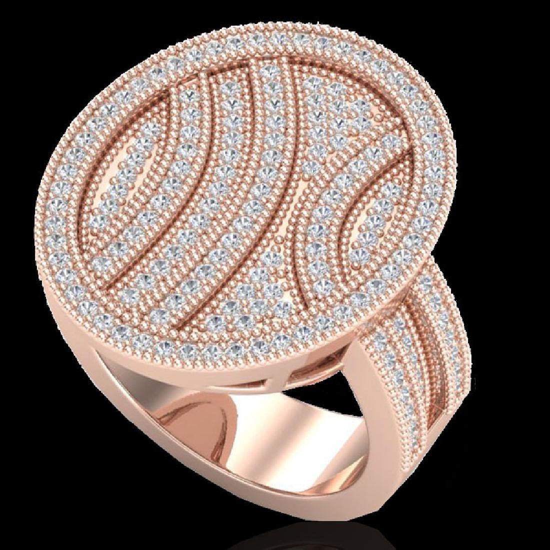 1.25 CTW Micro Pave VS/SI Diamond Ring 14K Rose Gold