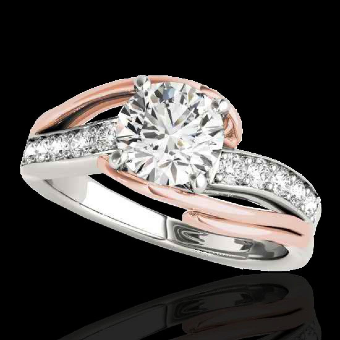 1.25 CTW H-SI/I Certified Diamond Bypass Solitaire Ring