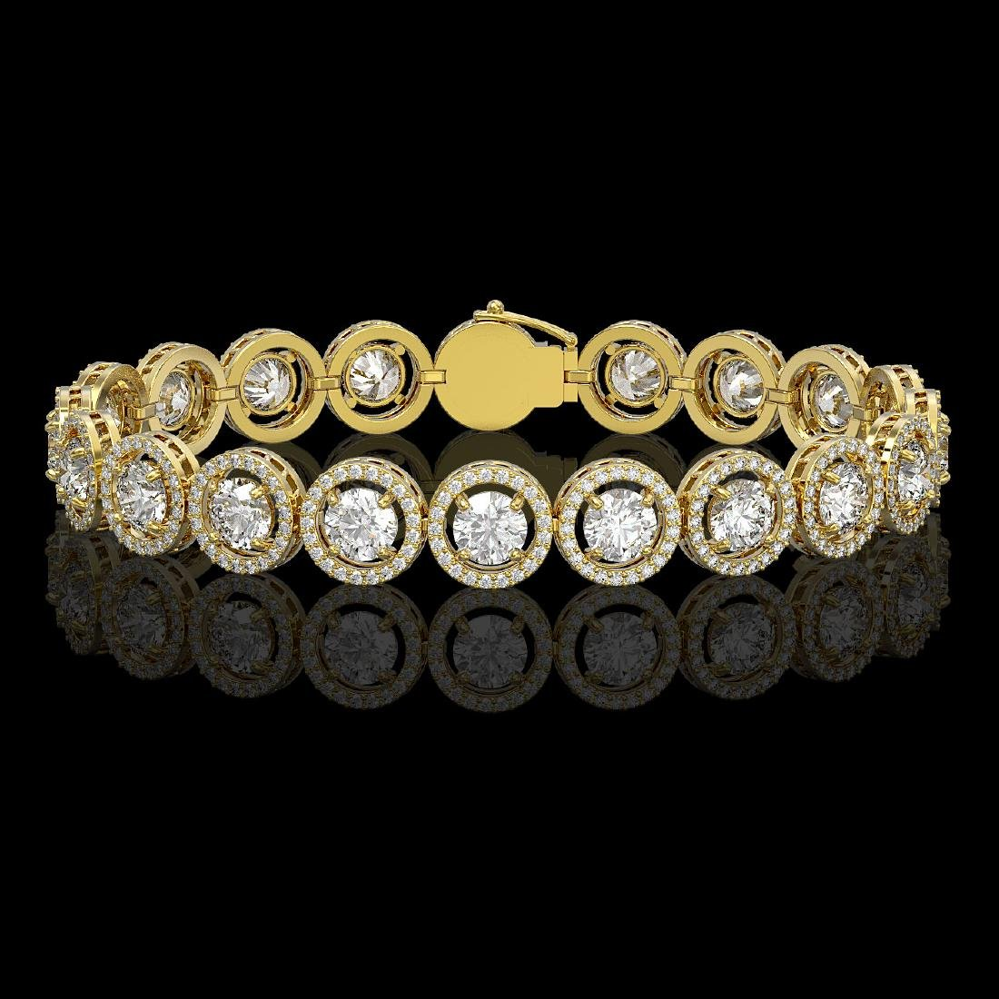 13.42 CTW Diamond Designer Bracelet 18K Yellow Gold