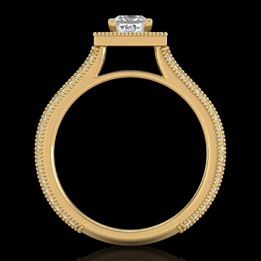 1.41 CTW Princess VS/SI Diamond Solitaire Micro Pave