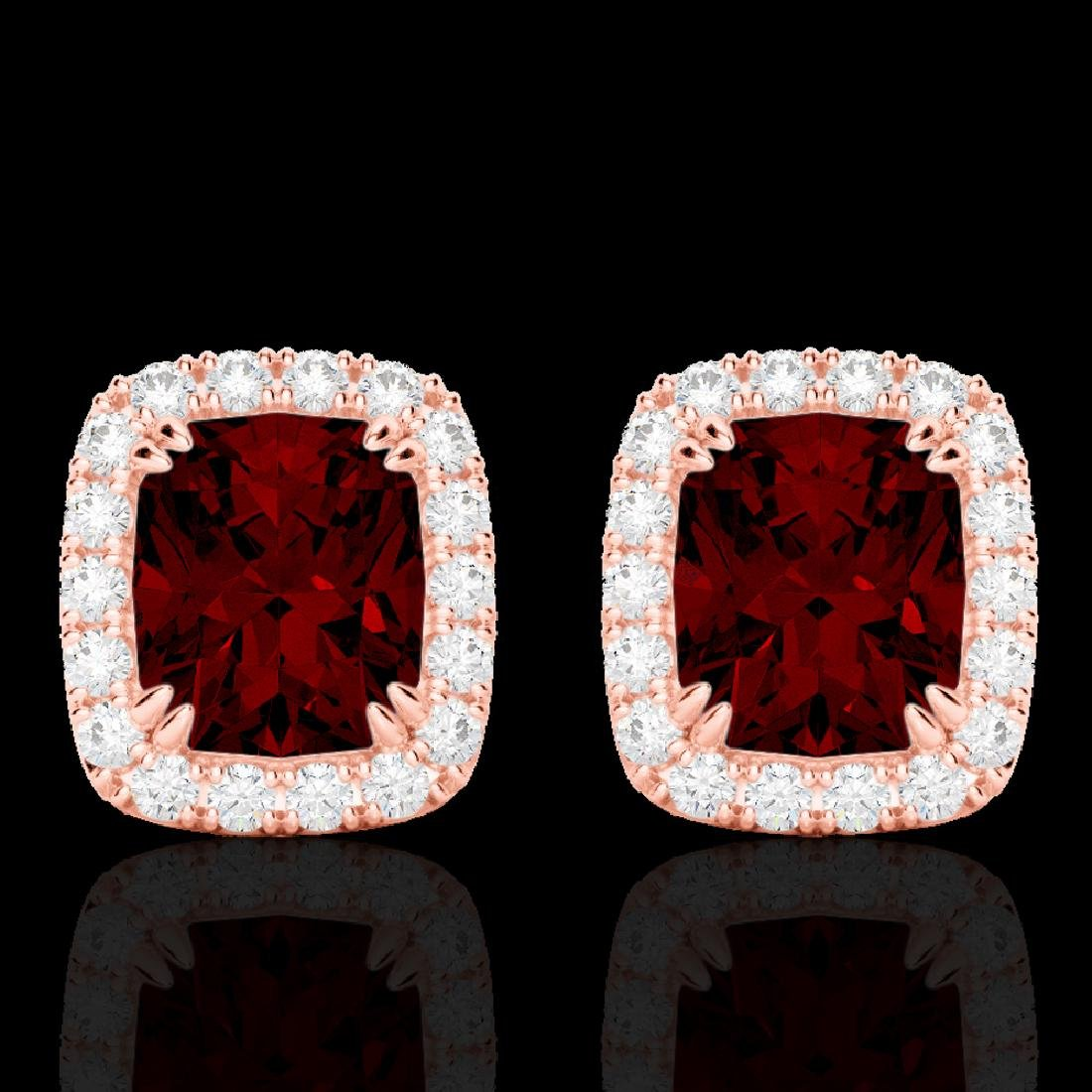 2.50 CTW Garnet & Micro Pave VS/SI Diamond Halo