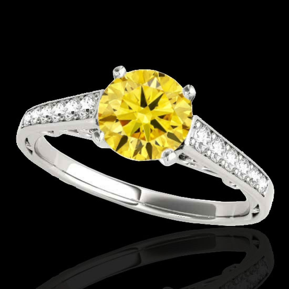 1.35 CTW Certified SI/I Fancy Intense Yellow Diamond