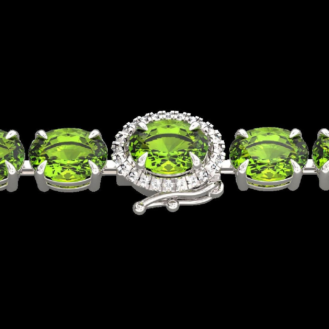 19.25 CTW Peridot & VS/SI Diamond Tennis Micro Pave