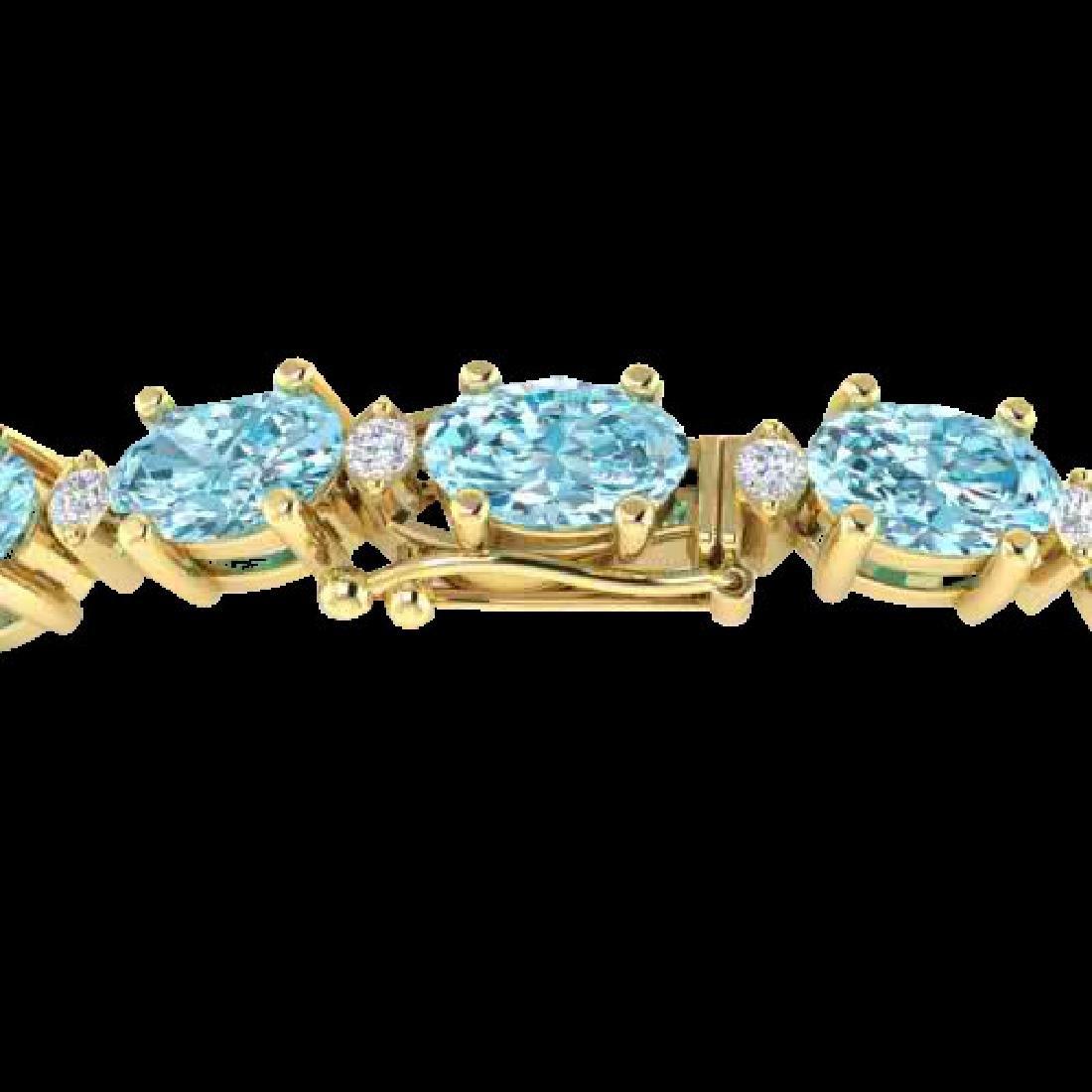 25.8 CTW Sky Blue Topaz & VS/SI Certified Diamond