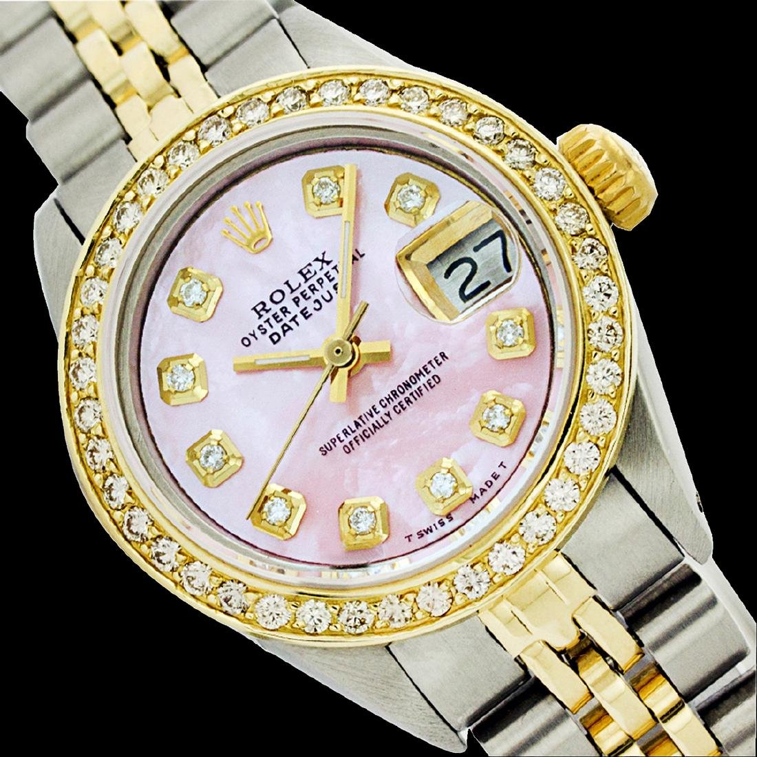 Rolex Men's Two Tone 14K Gold/SS, QuickSet, Diamond