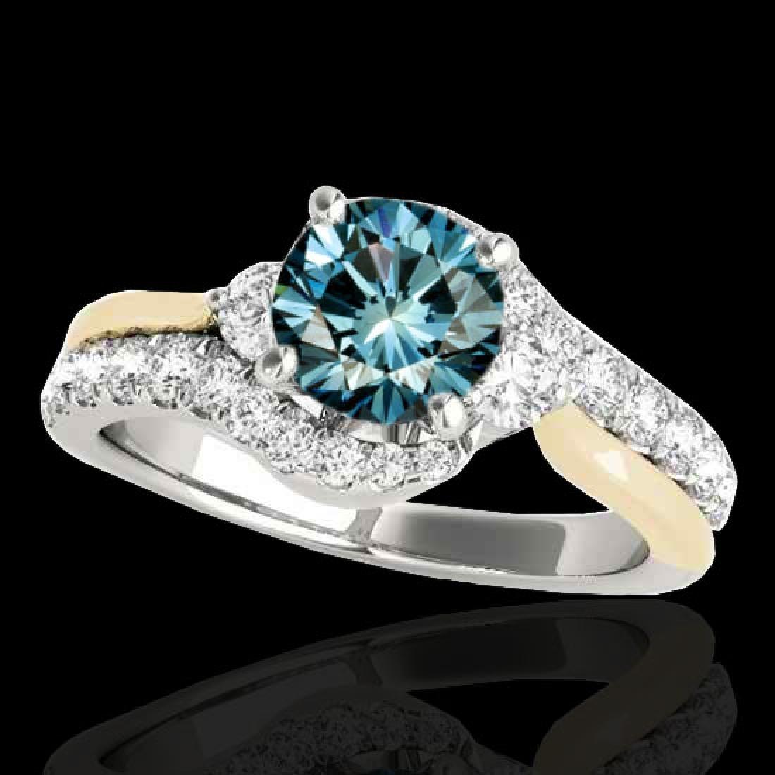 1.6 CTW SI Certified Fancy Blue Diamond Bypass