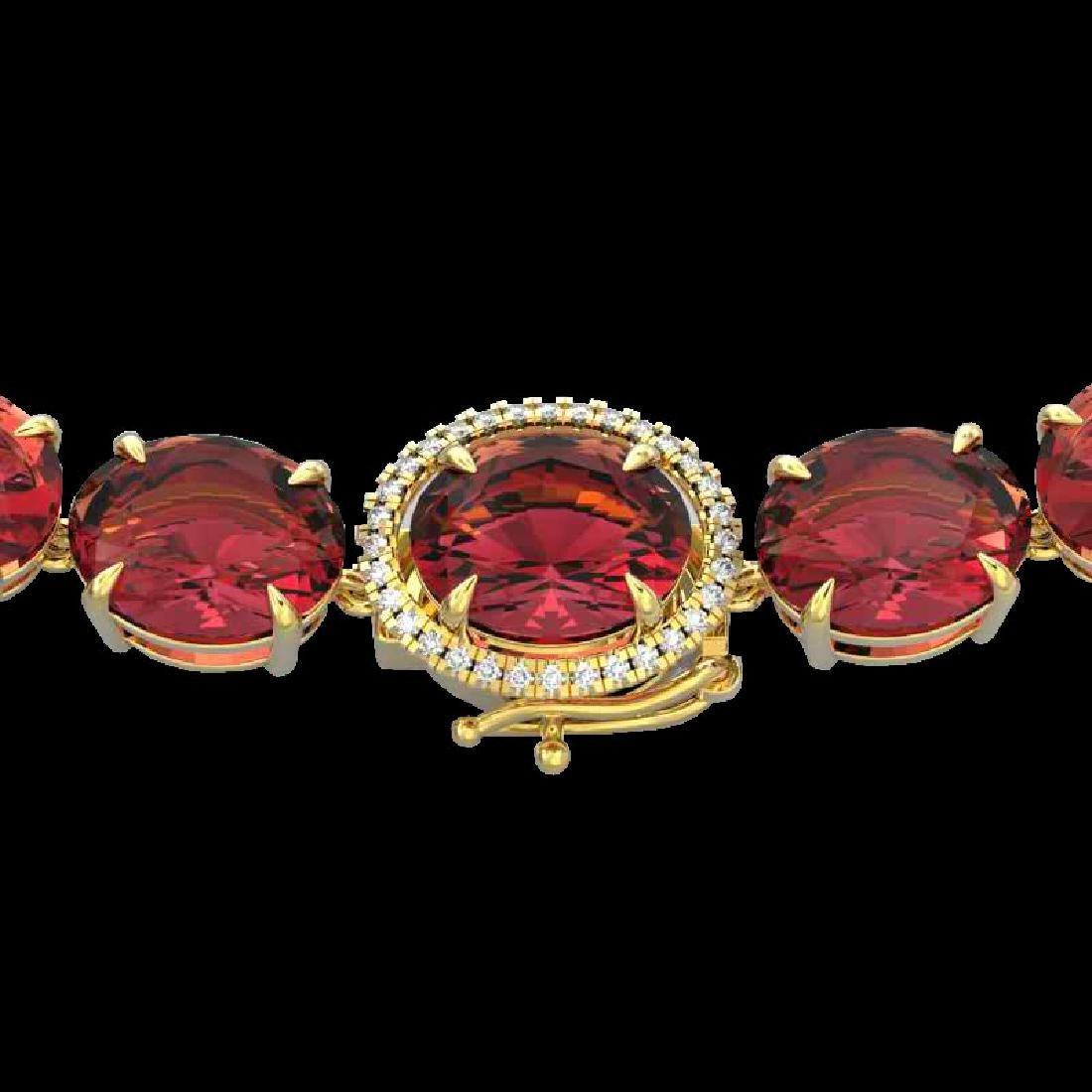 145 CTW Pink Tourmaline & VS/SI Diamond Halo Micro
