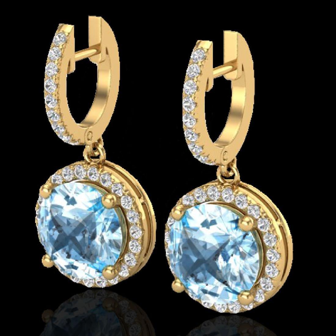 5.50 CTW Sky Blue Topaz & Micro Pave VS/SI Diamond