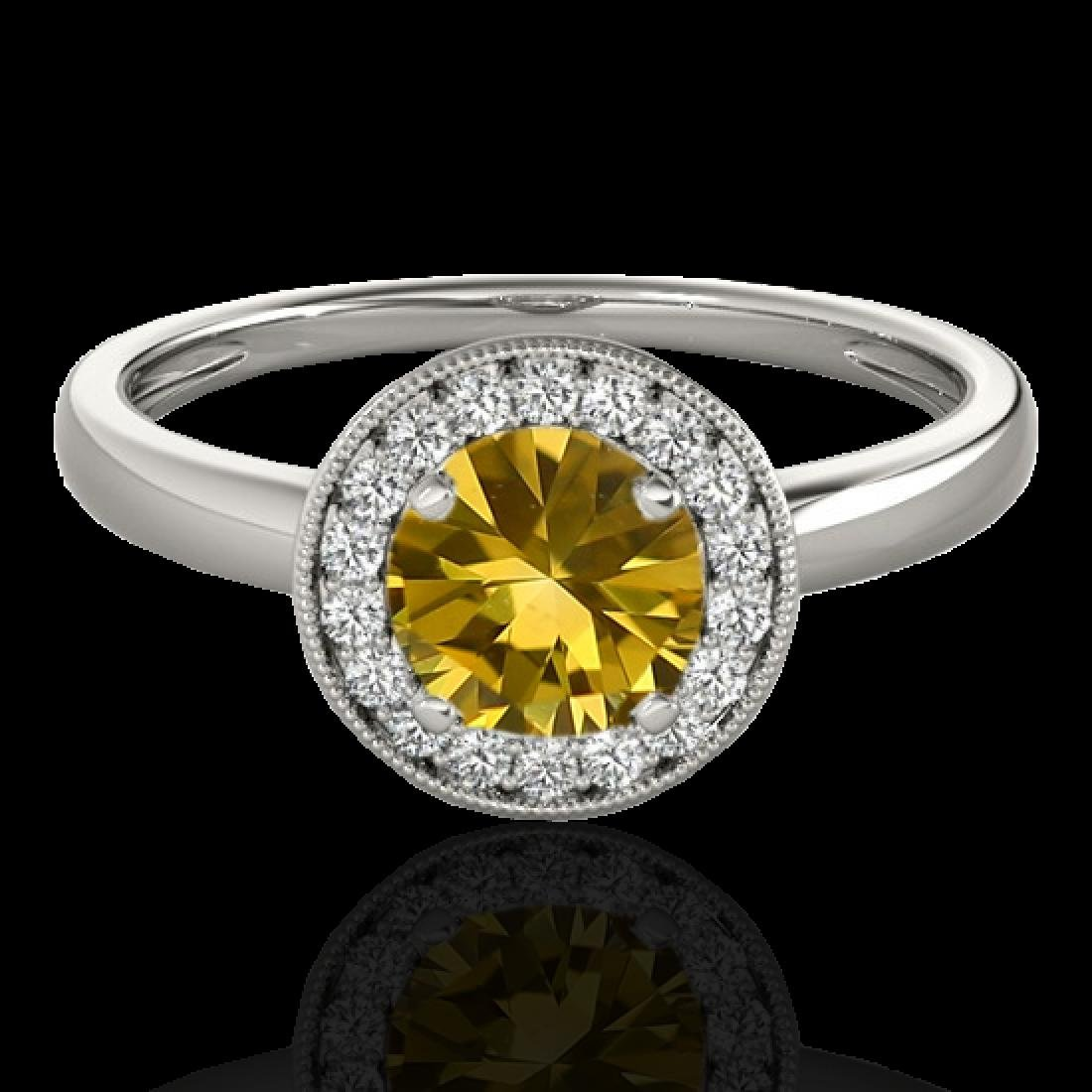 1.15 CTW Certified SI/I Fancy Intense Yellow Diamond