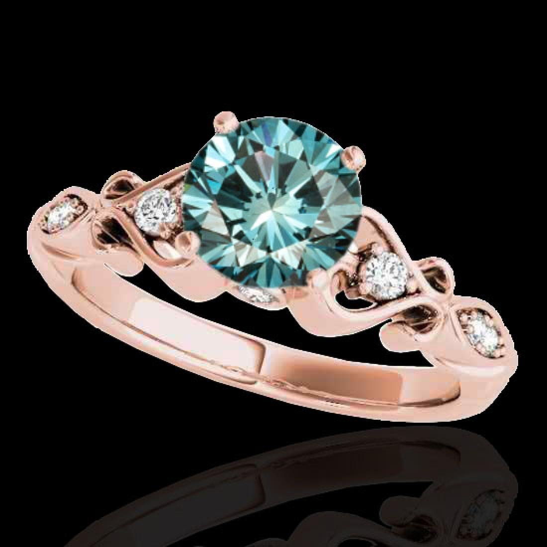 1.15 CTW SI Certified Fancy Blue Diamond Solitaire