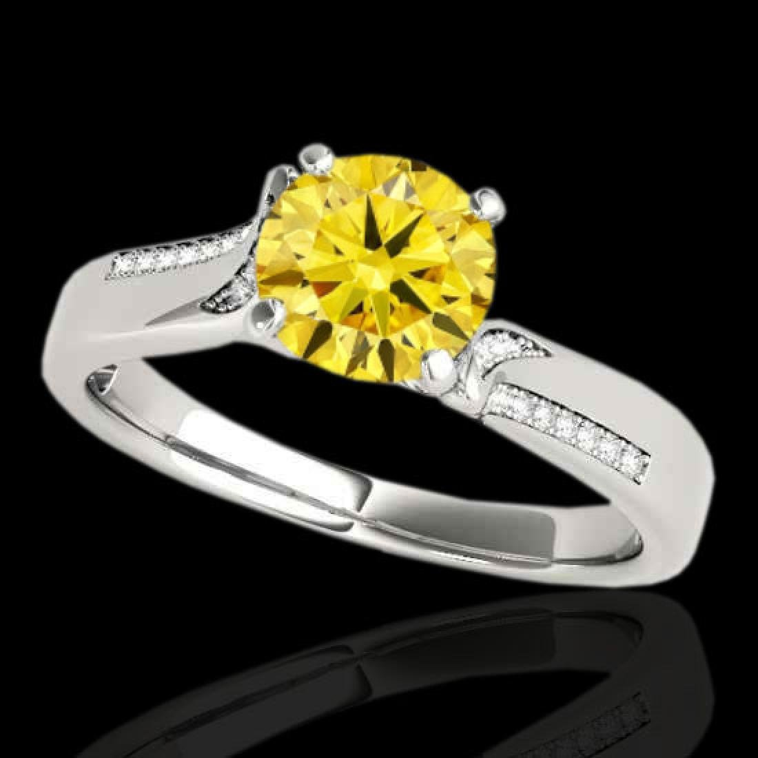 1.18 CTW Certified SI/I Fancy Intense Yellow Diamond
