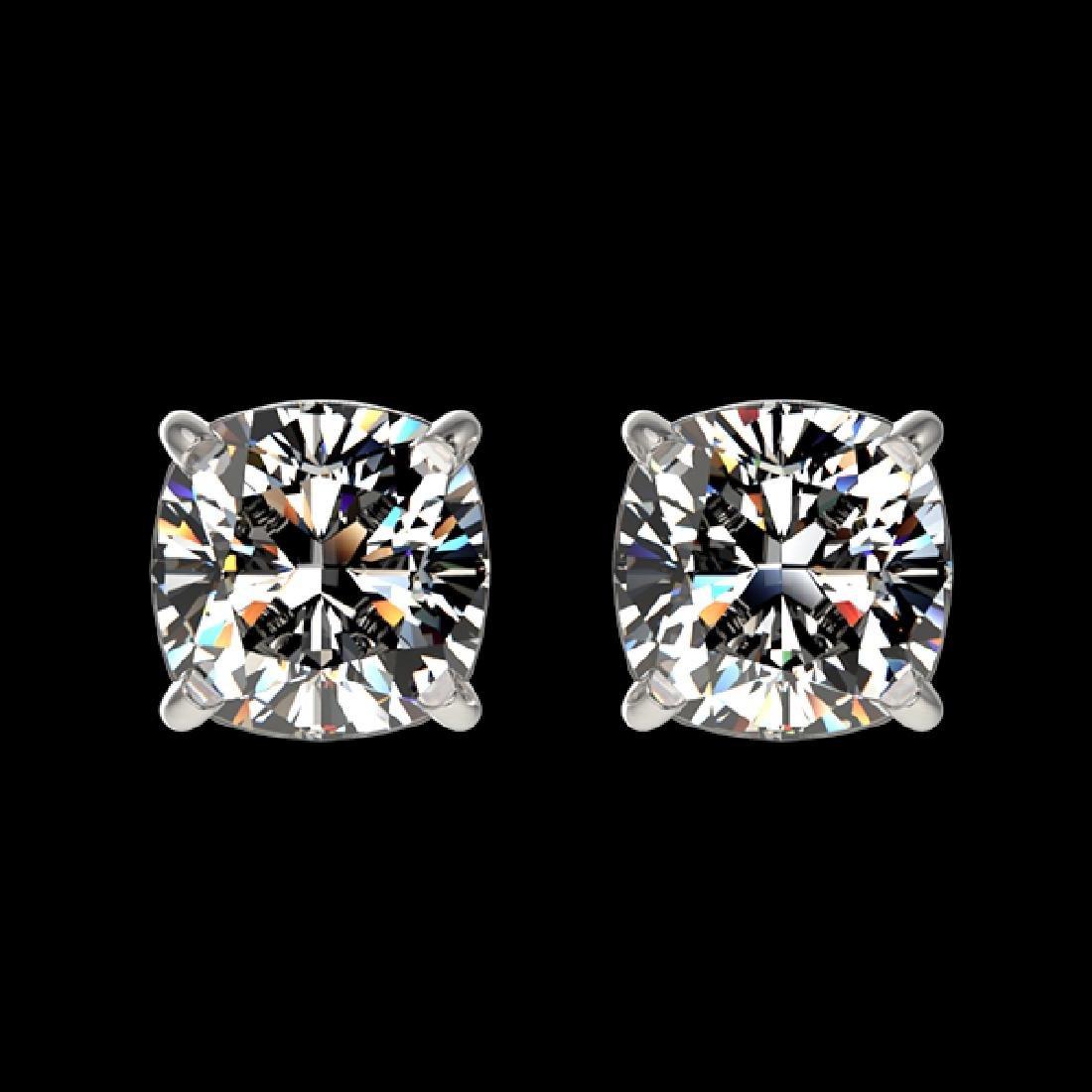 1 CTW Certified VS/SI Quality Cushion Cut Diamond Stud