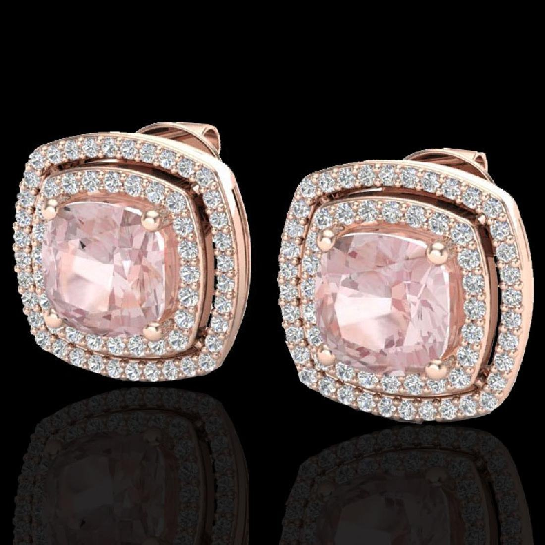 3.95 CTW Morganite & Micro Pave VS/SI Diamond Halo