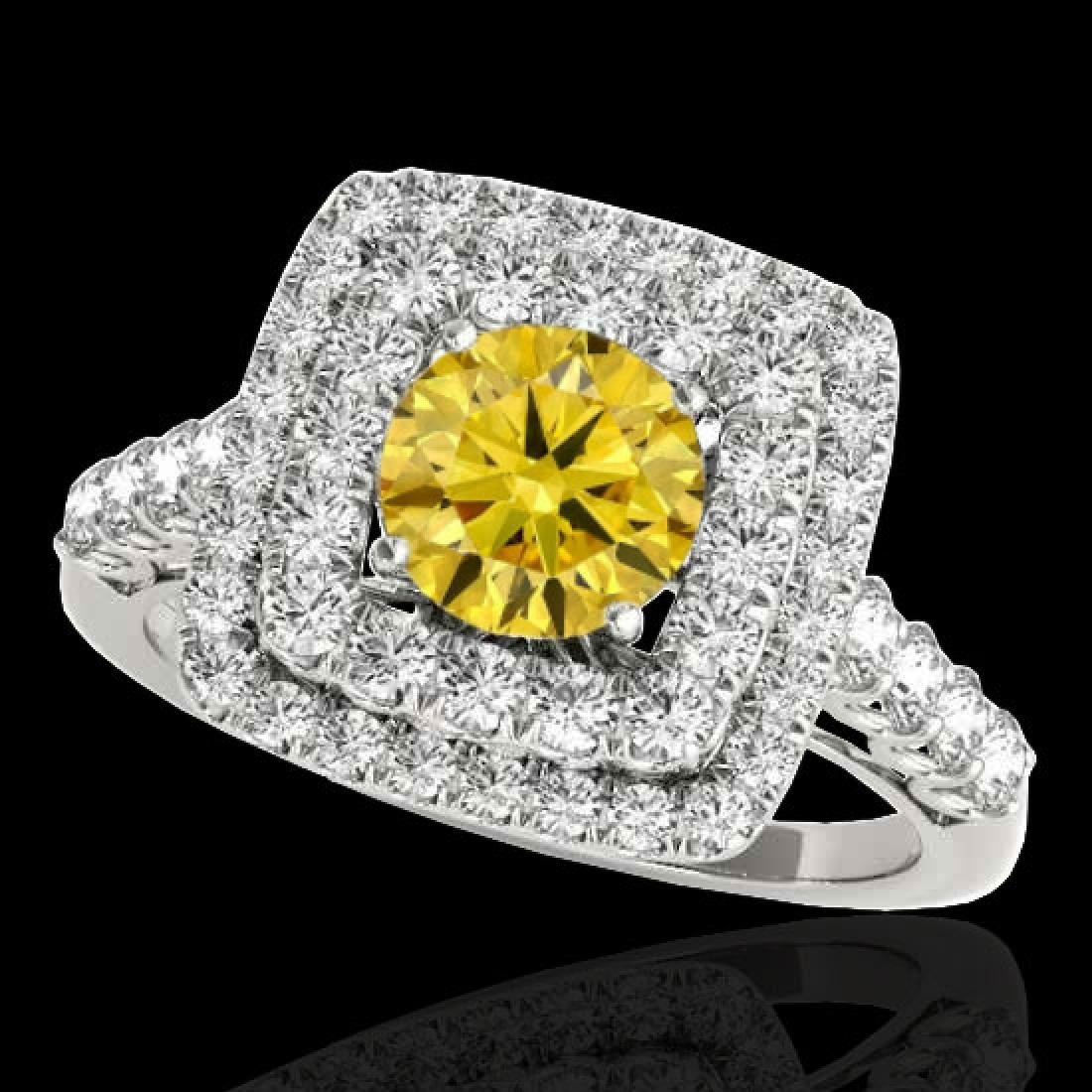 2.3 CTW Certified SI/I Fancy Intense Yellow Diamond
