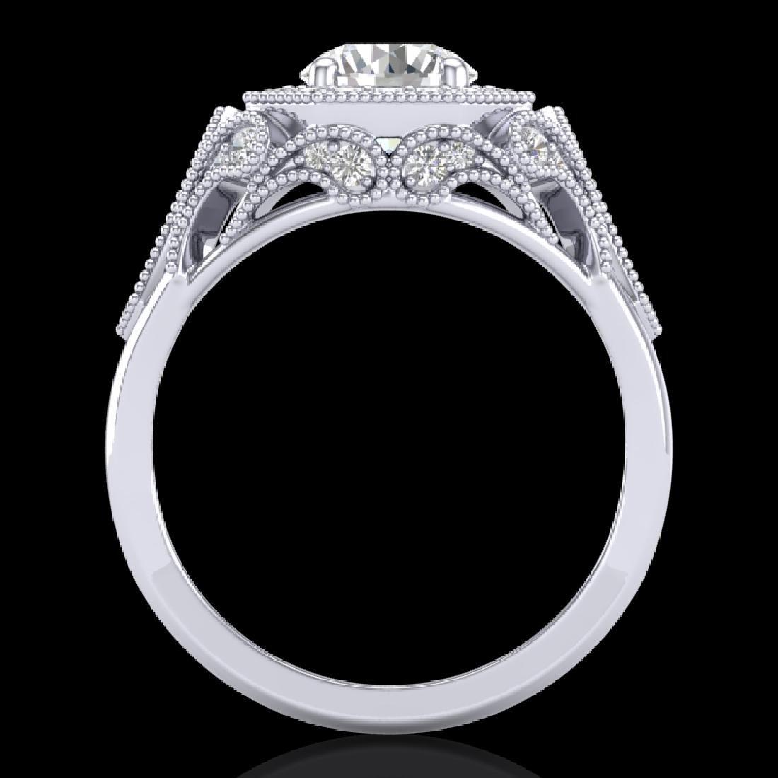 1.75 CTW VS/SI Diamond Solitaire Art Deco Ring 18K