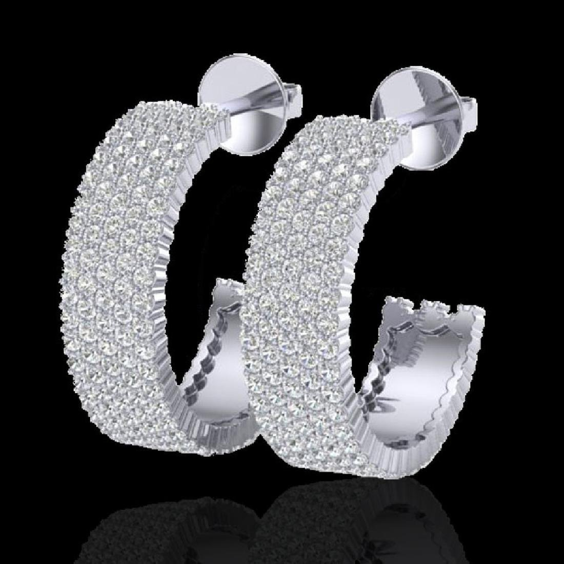 4.50 CTW Micro Pave VS/SI Diamond Earrings 14K White