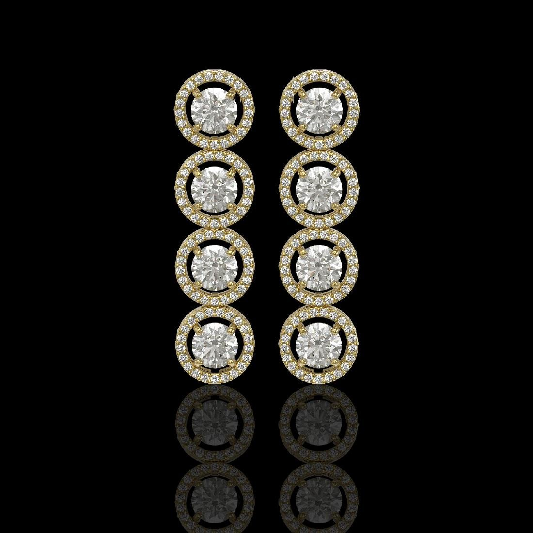 5.36 CTW Diamond Designer Earrings 18K Yellow Gold