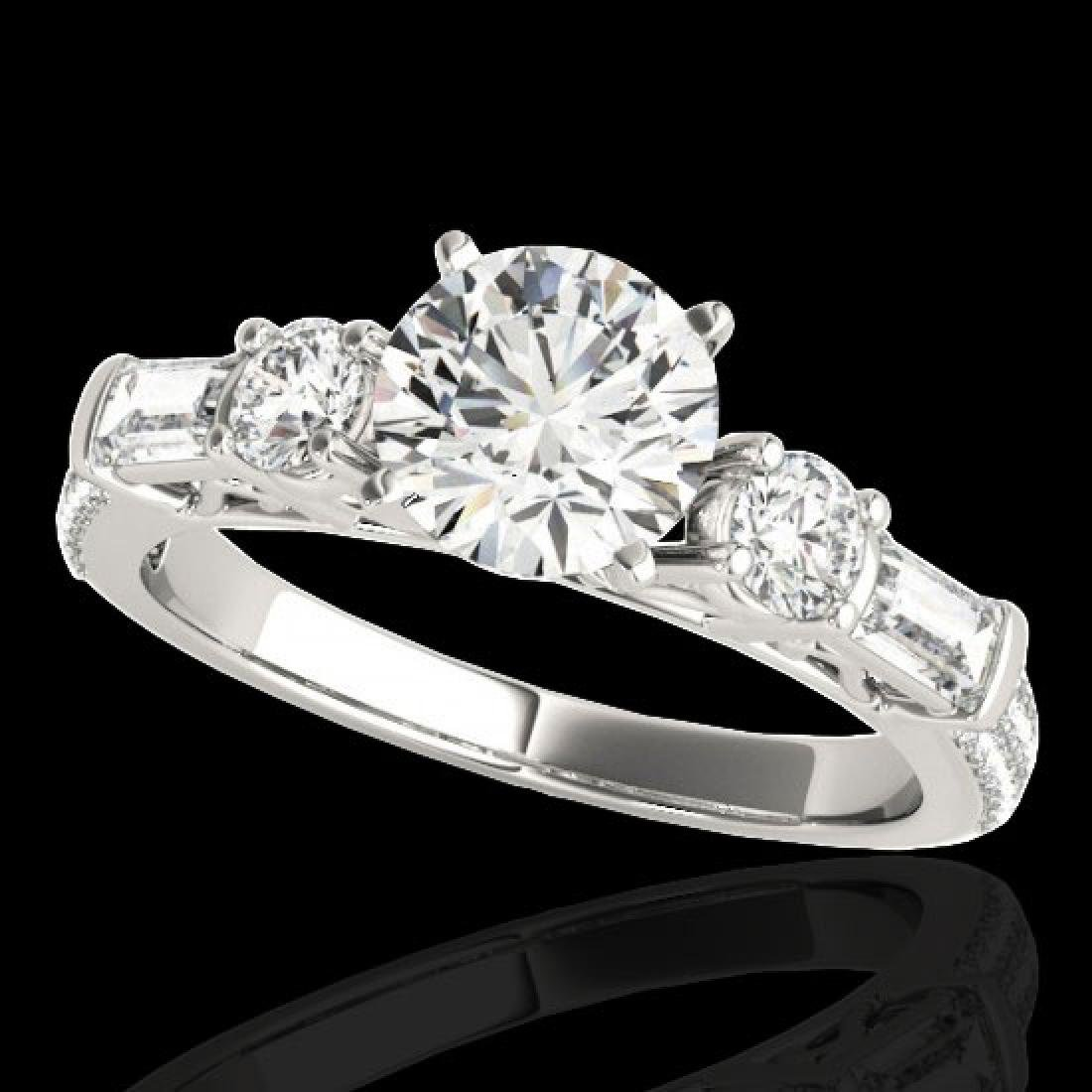 2.5 CTW H-SI/I Certified Diamond Pave Solitaire Ring