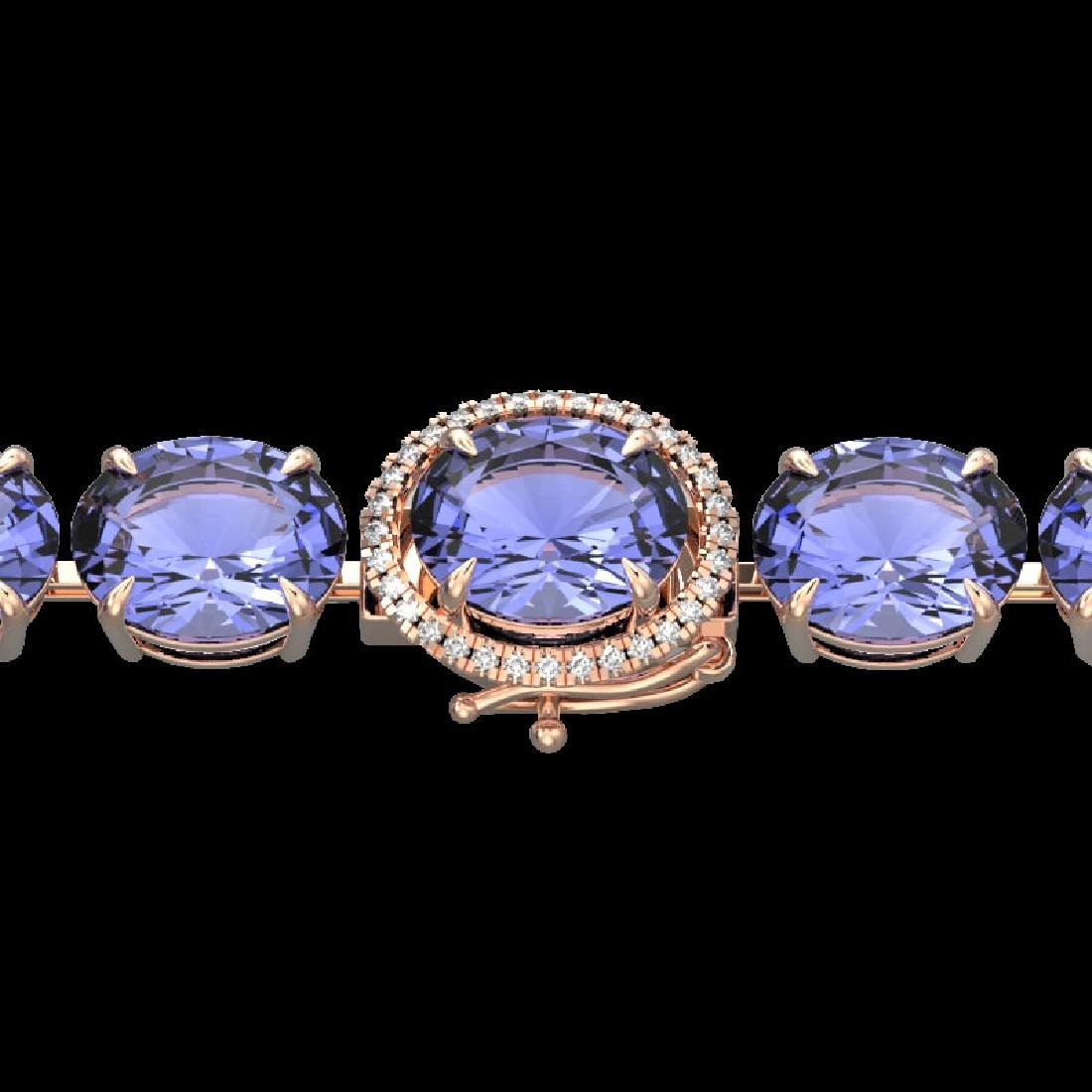 75 CTW Tanzanite & Micro Pave VS/SI Diamond Halo