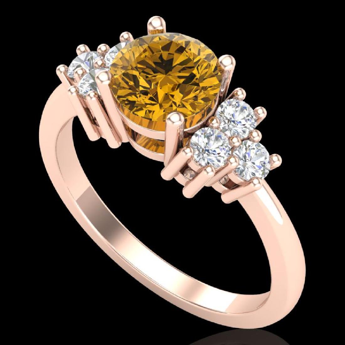 1.5 CTW Intense Fancy Yellow Diamond Solitaire Classic